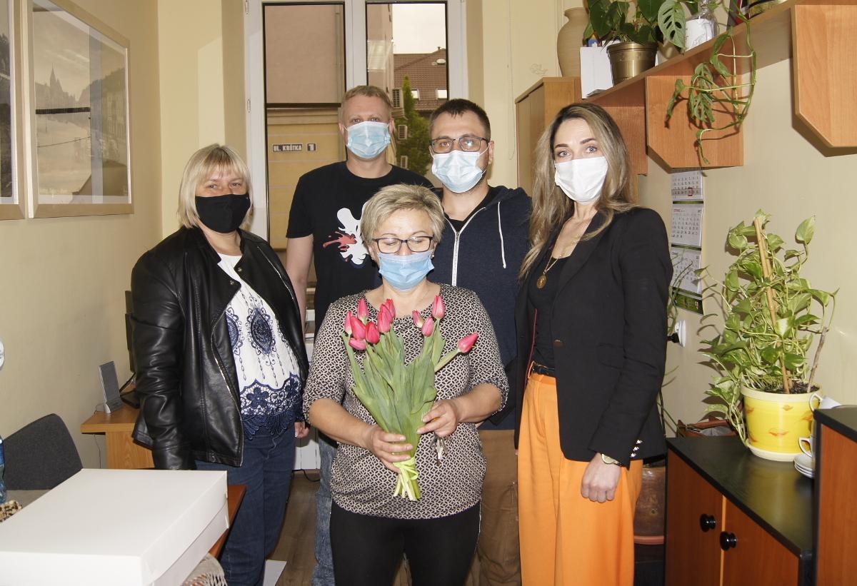 Pracownicy Domu Kultury w Gołdapi i zastepca Burmistrza Gołdapi