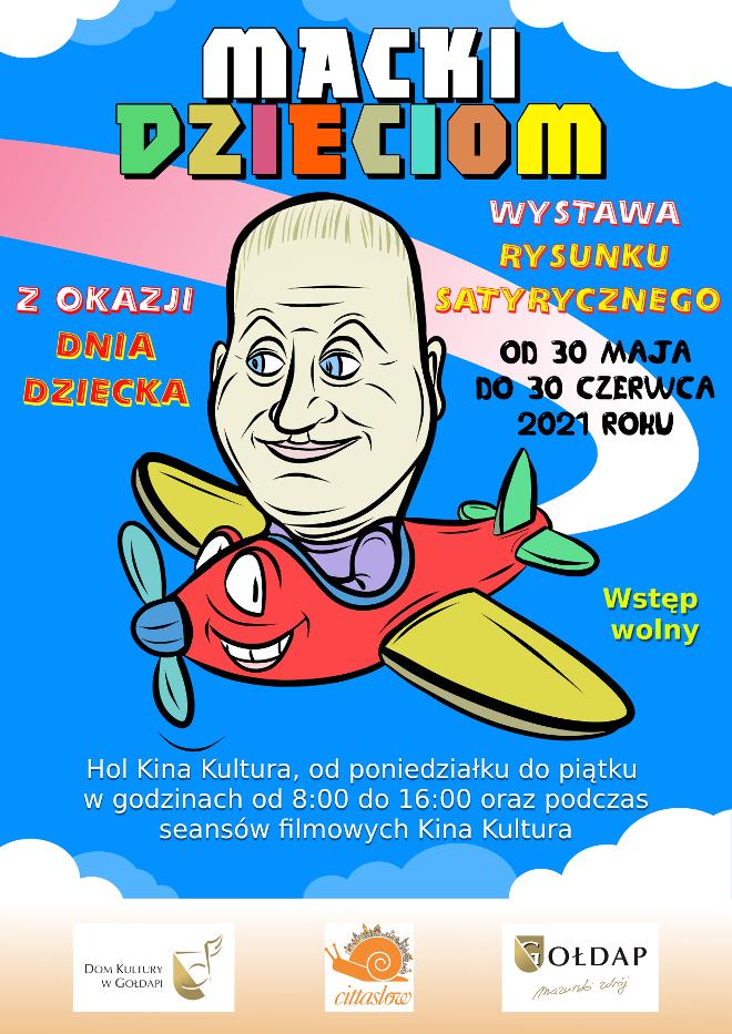 Plakat na wystawę rysunku dla dzieci