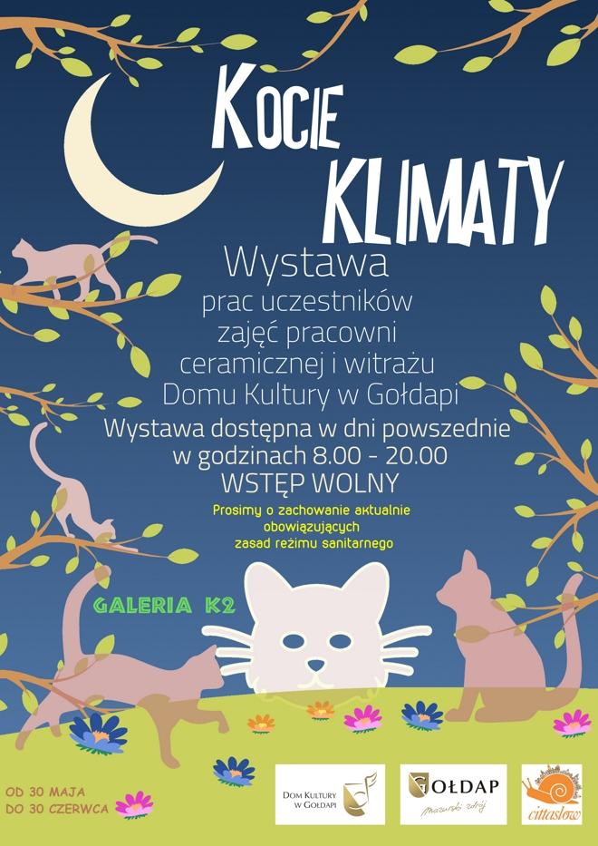 Kocie klimaty - plakat na wystawę