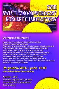 Koncert noworoczny - plakat