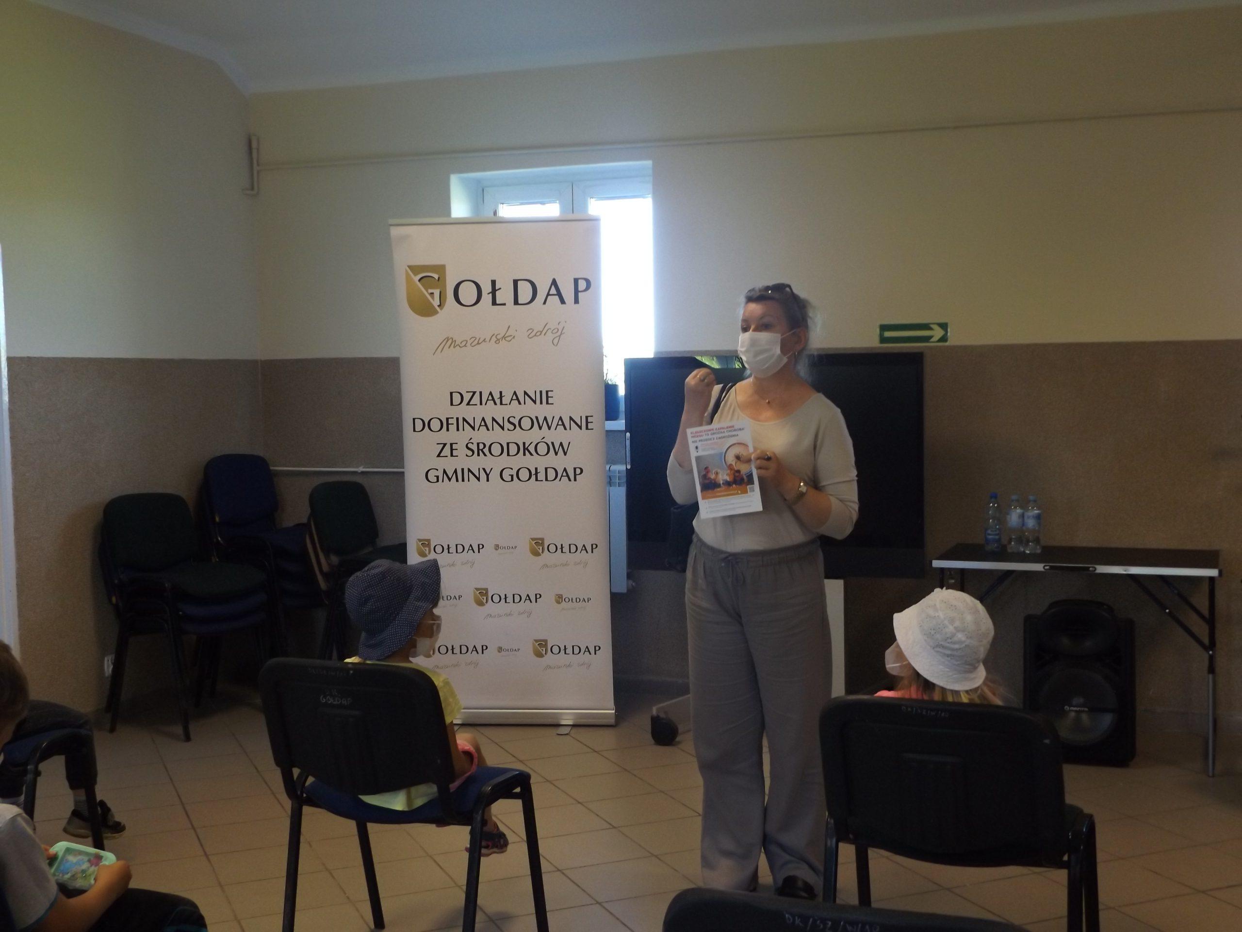 Zdjęcie spotkania z przedstawicielem Powiatowej Stacji Sanitarno-Epidemiologiczna w Gołdapi