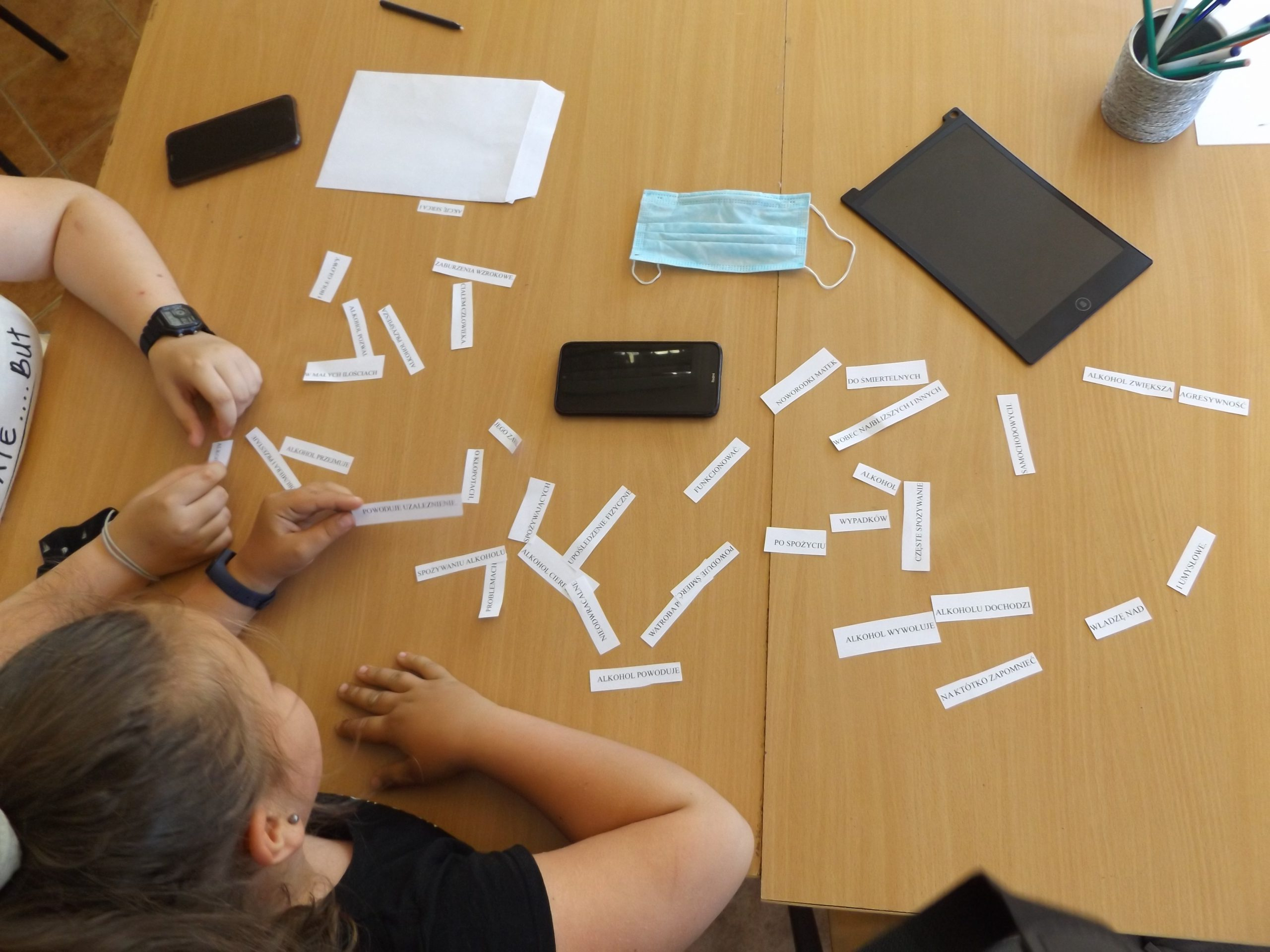 Zdjęcie przedstawia spotkanie z psychologiem.