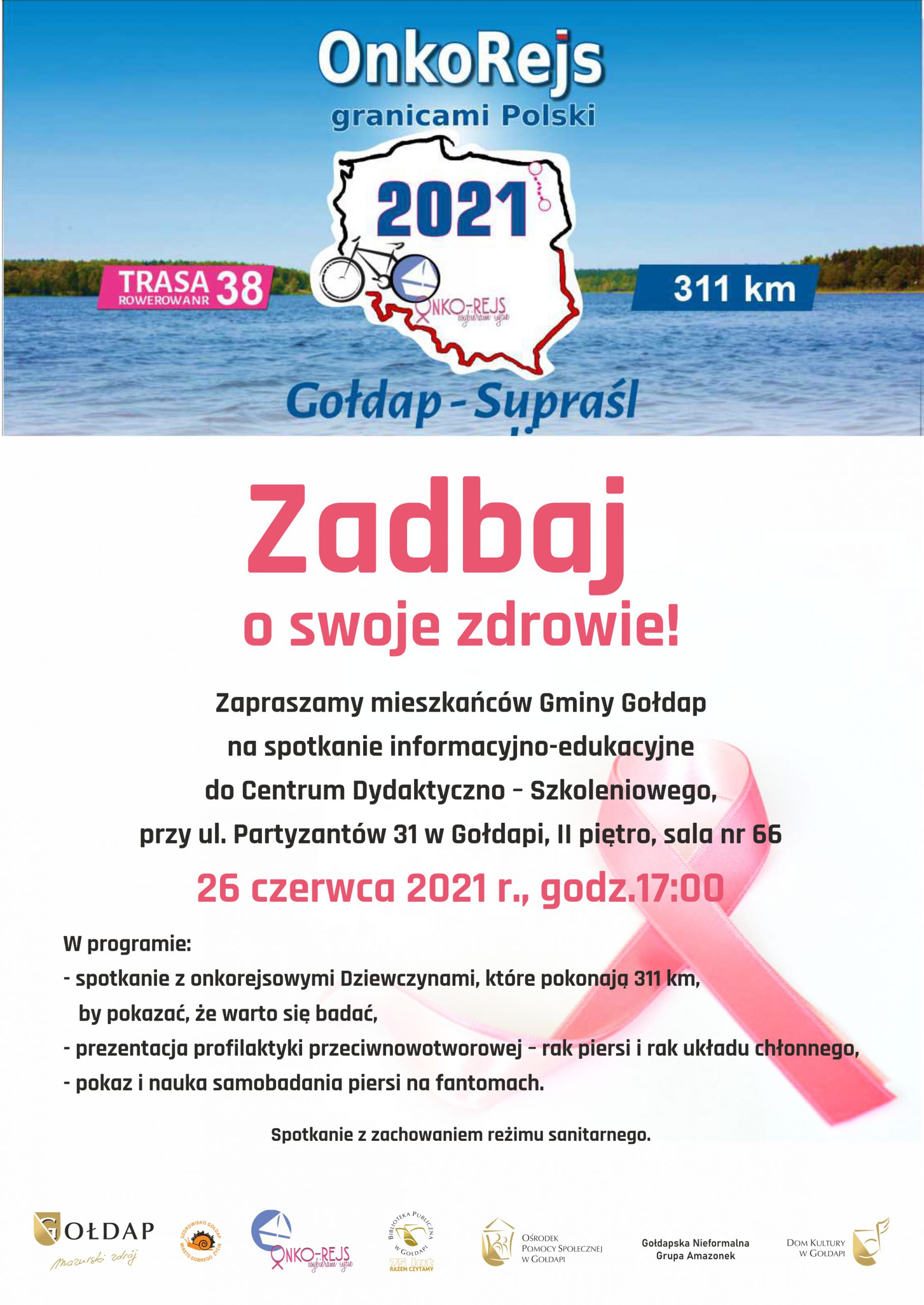 Plakat OnkoRejs Granicami Polski