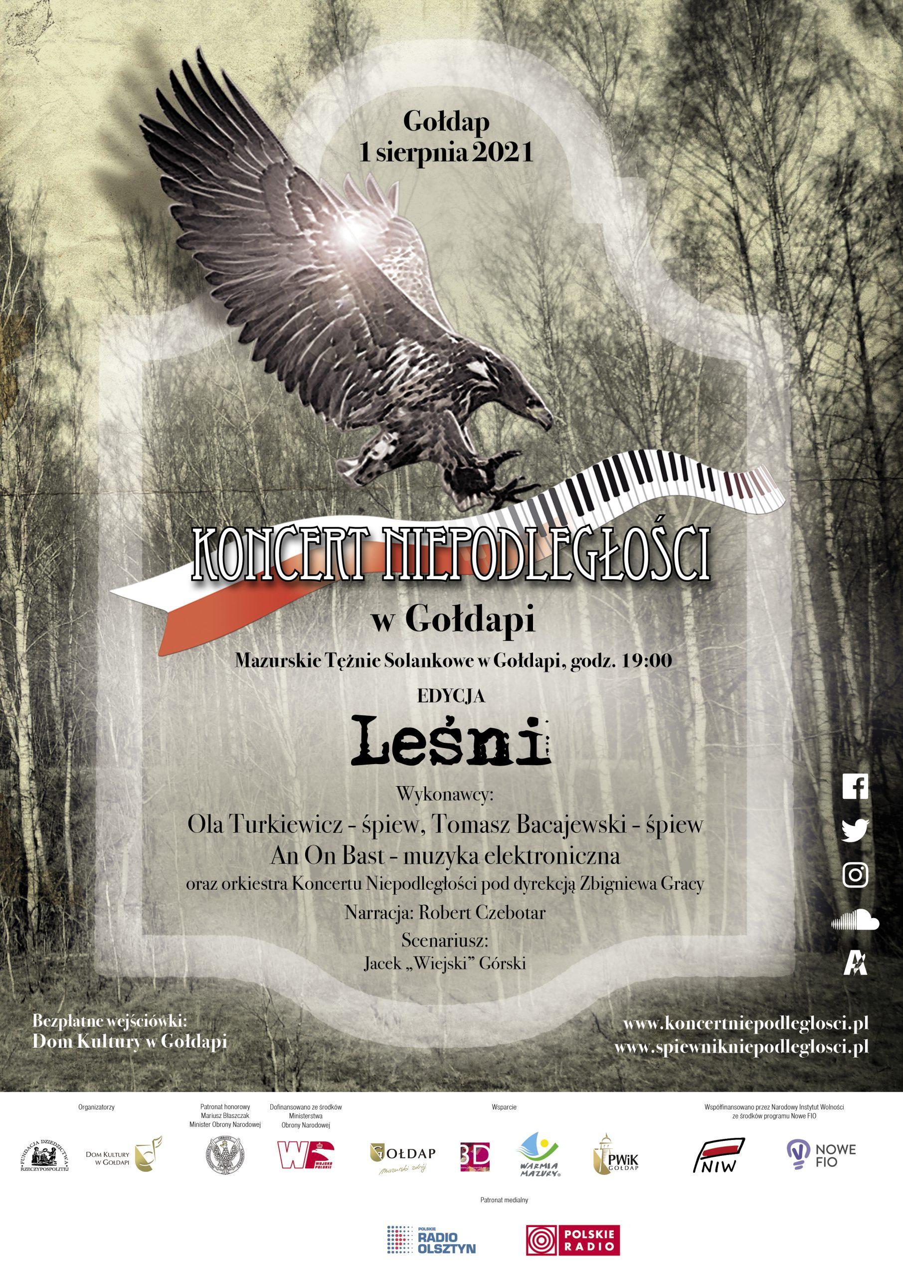 """Plakat Koncertu Niepodległości """"Leśni"""""""