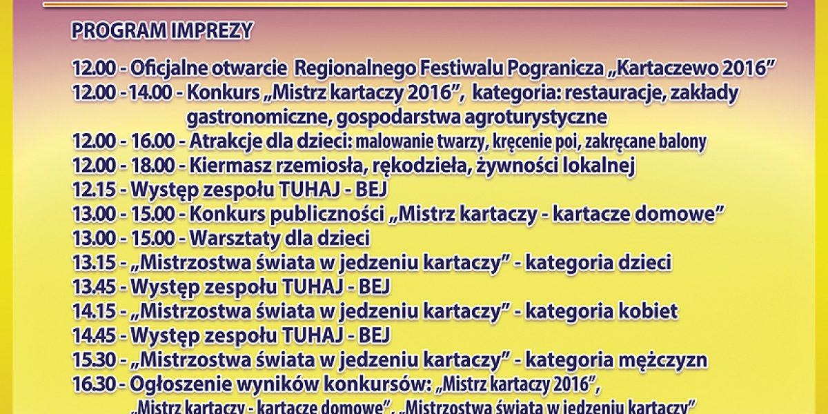 Plakat - Kartaczewo 2016